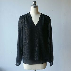 Small Black and Gold Maurices Blouse